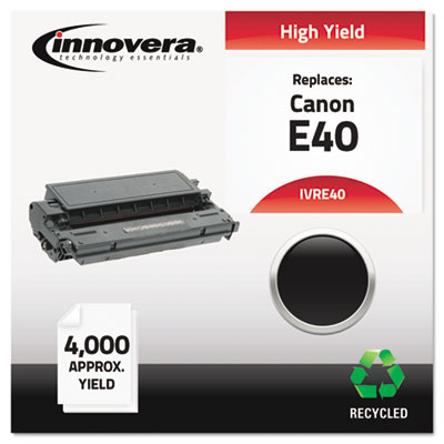 Remanufactured 1491A002AA (E40) High-Yield Toner, Black<br />91-IVR-E40
