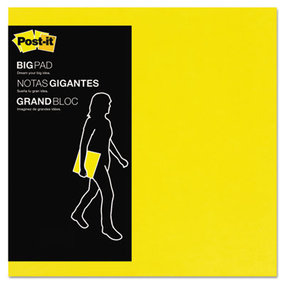 Big Pad, 11 x 11, Bright Yellow, 30 Sheets/Pad