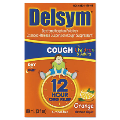 Children's Cough Suppressant, Orange, 3oz Bottle