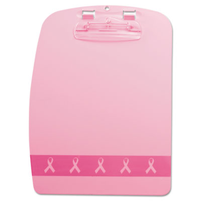 "Breast Cancer Awareness Fashion Clipboard, 3/4"" Clip, 9 3/8 x 13"