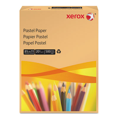 Multipurpose Pastel Colored Paper, 20-lb, Letter, Buff, 500 Shee