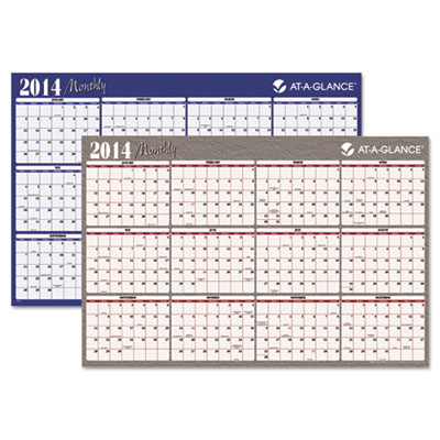 "Horizontal Erasable Wall Planner, 48"" x 32"", 2015"