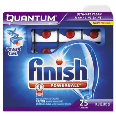 Quantum Dishwasher Tabs, Blue, 25 Count