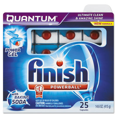 Quantum Dishwasher Tabs, White, 25 Count