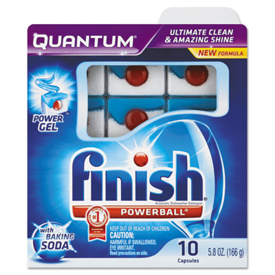 Quantum Dishwasher Tabs, With Baking Soda, Blue, 10 Count