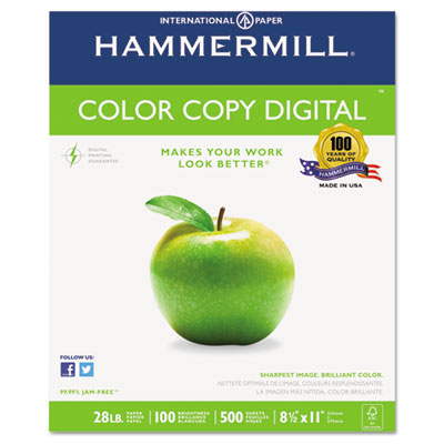 Copy Paper, 100 Brightness, 28lb, 8 1/2 x 11, Photo White, 500/R
