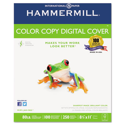 Copier Digital Cover Stock, 80 lbs., 8-1/2 x 11, White, 250 Shee