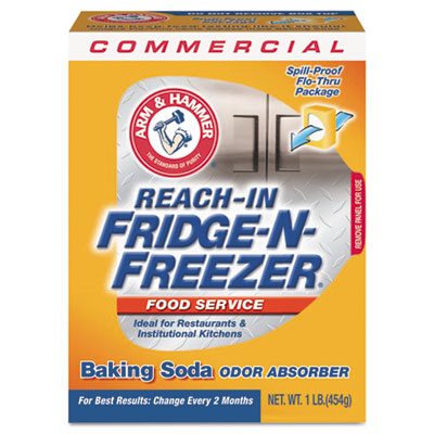 Fridge-N-Freezer Pack Baking Soda, Unscented, Powder, 16 oz., 12