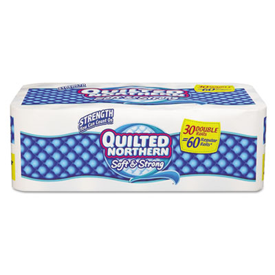 Bath Tissue, 2-Ply, White, 30 Rolls/Carton
