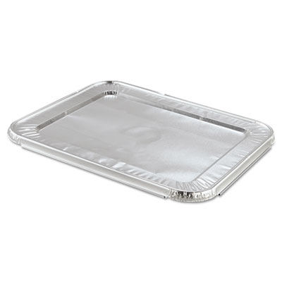 Steam Table Pan Foil Lid, Fits Half-Size Pan, 100/Pack
