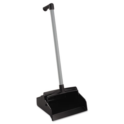 "LobbyMaster Plastic Lobby Dustpan, 12"" Wide, 32"" High, Black Pan"