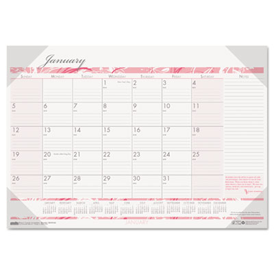 Breast Cancer Awareness Monthly Desk Pad Calendar, 18-1/2 x 13,