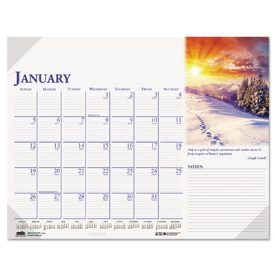 Earthscapes Photographic Monthly Desk Pad Calendar, 22 x 17, 201
