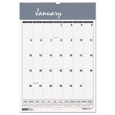 Bar Harbor Wirebound Monthly Wall Calendar, 22 x 31-1/4, 2015