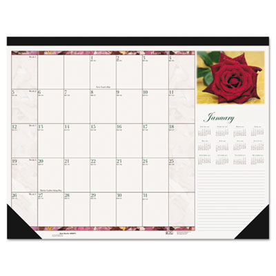 Beautiful Photographic Monthly Desk Pad Calendar, 18-1/2 x 13, 2