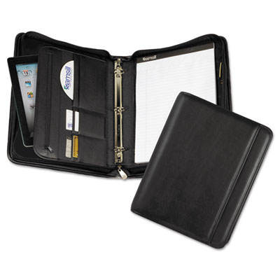 Professional Zippered Pad Holder/Ring Binder, Pockets, Writing P