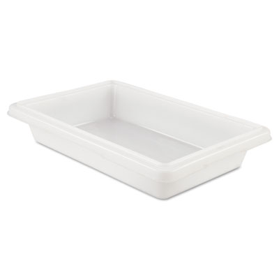 Food/Tote Boxes, 2gal, 18w x 12d x 3 1/2h, White