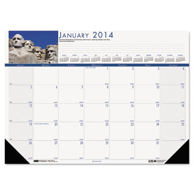 National Monuments Photographic Monthly Desk Pad Calendar, 18-1/