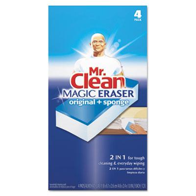 "Magic Eraser Duo Pad, 4.6""w x 2.4""d x 1""h, 4/Box"