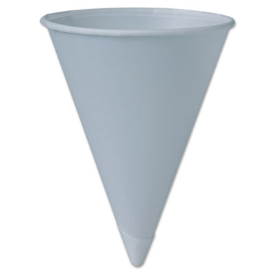 Bare Treated Paper Cone Water Cups, 6 oz, White, 200/Sleeve, 25
