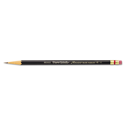 Mirado Black Warrior Woodcase Pencil, HB #2, Black Matte Barrel,