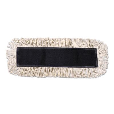 Boardwalk BWK1336 Industrial Dust Mop Head Hygrade Cotton 36w x 5d White