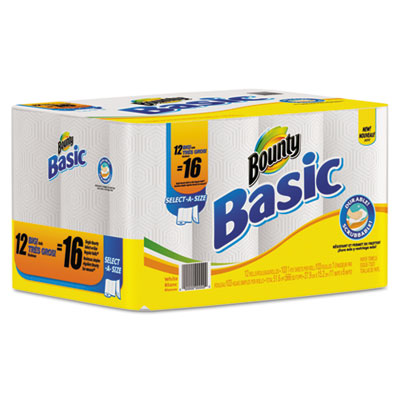 Basic Select-a-Size Paper Towels, 11 x 11, White, 103 Sheets/Rol
