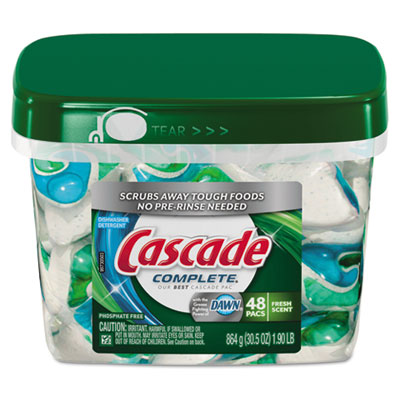Action Pacs, Dishwashing Pods, Dawn Fresh, 0.6 oz, 48/Pack
