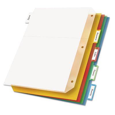 Ring Binder Divider Pockets With Index Tabs, Letter, Assorted Co