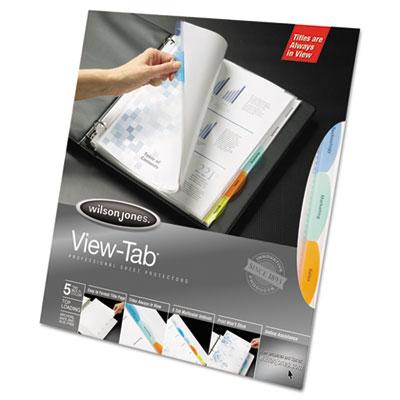 View-Tab Sheet Protectors, Easy Organize, Multi-tabs, 8/Pk