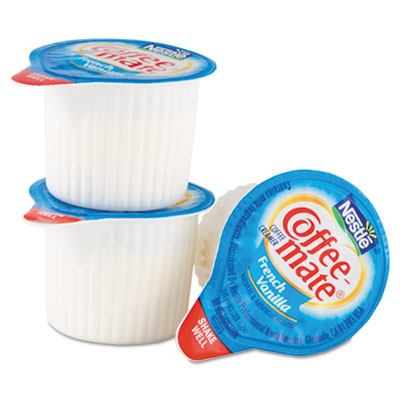 Liquid Coffee Creamer, French Vanilla Flavor .375 oz. Cups In Se