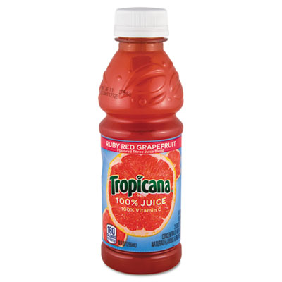 100% Juice, Ruby Red Grapefruit, 10oz Plastic Bottle, 24/Carton