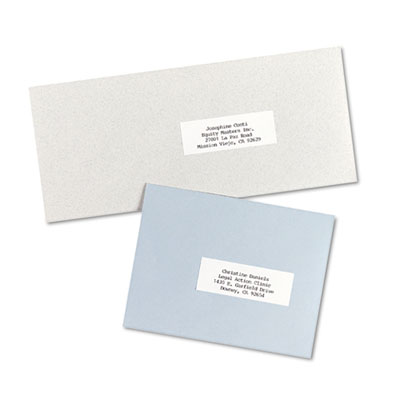 Self-Adhesive Address Labels for Copiers, 1 x 2-13/16, White, 82