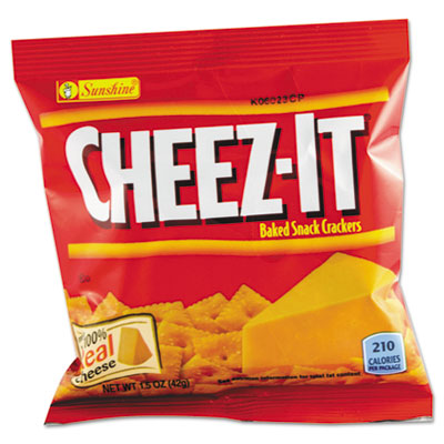 Cheez-It Crackers, 1.5oz Single-Serving Snack Bags, 8/Box