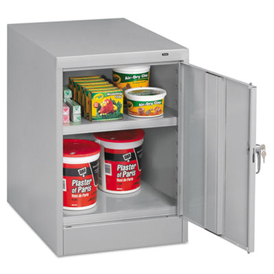 "30"" High Single Door Cabinet, 19w x 24d x 30h, Light Gray"