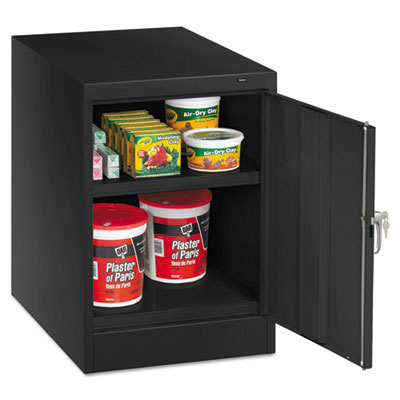 "30"" High Single Door Cabinet, 19w x 24d x 30h, Black"