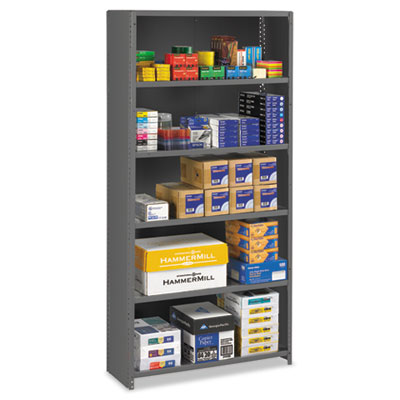 Closed Commercial Steel Shelving, Six-Shelf, 36w x 12d x 75h, Me