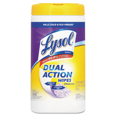 Dual Action Citrus Disinfecting Wipes, 7 x 8, 75/Canister