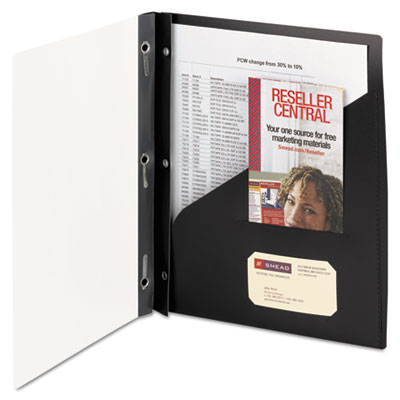 Clear Front Poly Report Cover With Tang Fasteners, 8-1/2 x 11, B