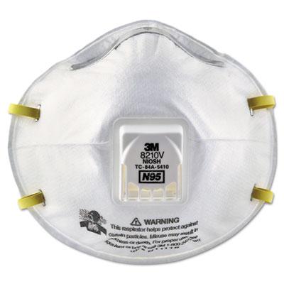Particulate Respirator 8210V, N95, Cool Flow Valve, 80/Carton