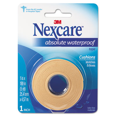 "Absolute Waterproof First Aid Tape, Foam, 1"" x 180"""