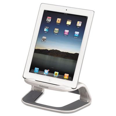 Tablet Riser, 8 7/16 x 5 7/16 x 4 5/8, White/Gray