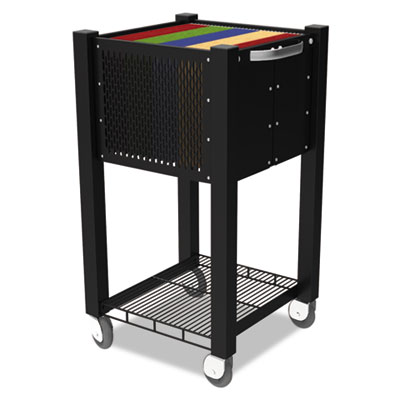 InstaCart Sidekick File Cart, 15w x 16-1/4d x 27-3/4h, Black