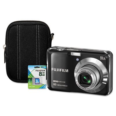 FinePix AX650 Digital Camera Bundle, 16MP, 5x Optical Zoom, 7.2x