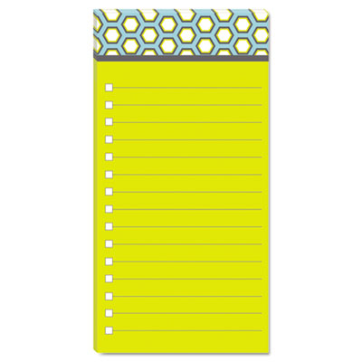 Assorted Printed Note Pads, 4 x 8, Lined, 75 Sheets/Pad, 3 Pads/