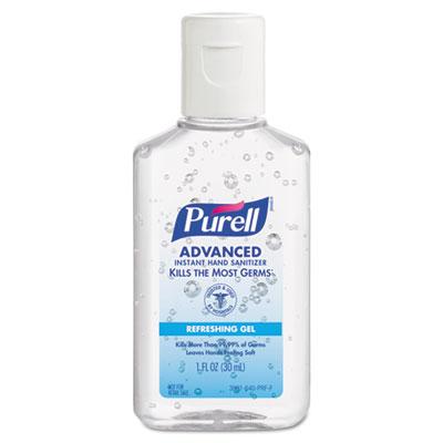 Advanced Instant Hand Sanitizer Gel, 1 oz Bottle, Lemon Scent, 2