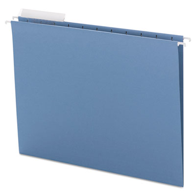 Color Hanging Folders with 1/3-Cut Tabs, 11 Pt. Stock, Blue, 25/