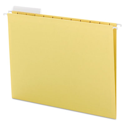 Color Hanging Folders with 1/3-Cut Tabs, 11 Pt. Stock, Yellow, 2