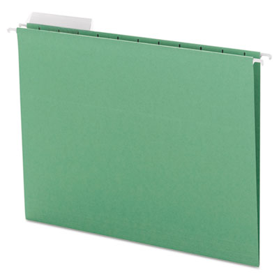 Color Hanging Folders with 1/3-Cut Tabs, 11 Pt. Stock, Green, 25