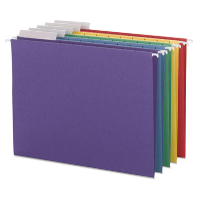 Color Hanging Folders with 1/3-Cut Tabs, 11 Pt. Stock, Assorted